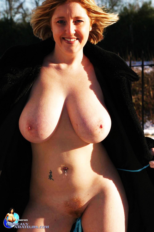 Big breast flash